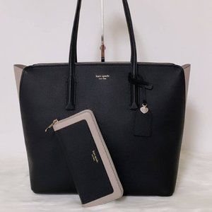 New Kate Spade Margaux Large Tote & Wallet